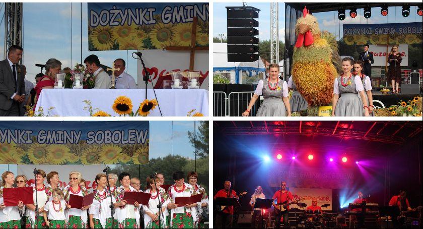 Uroczystości Powiat, Dożynki gminy Sobolew Kobusach - zdjęcie, fotografia
