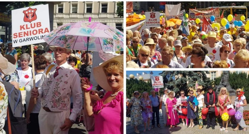 Inne Ciekawostki, Paradzie Warszawie Seniorzy potrafią cieszyć życiem - zdjęcie, fotografia
