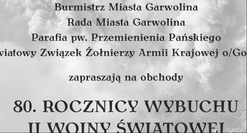 W Garwolinie, rocznica wybuchu wojny światowej Garwolinie - zdjęcie, fotografia