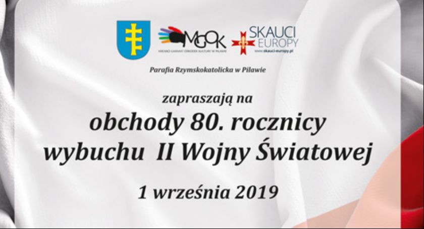 W Powiecie, Rocznica wybuchu wojny światowej Pilawie Program uroczystości - zdjęcie, fotografia
