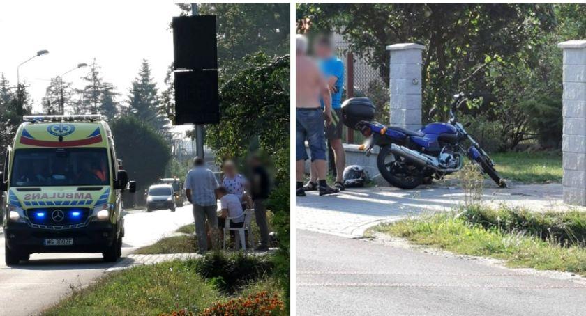 Wypadki drogowe , Wypadek Garwolin Motocyklista szpitalu - zdjęcie, fotografia