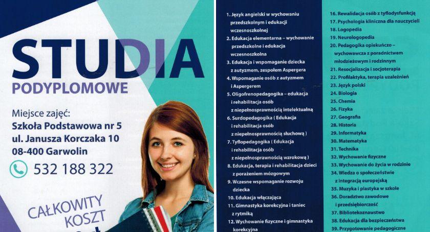 Inne Miejskie, Studia podyplomowe Garwolinie Wybierz spośród specjalności - zdjęcie, fotografia