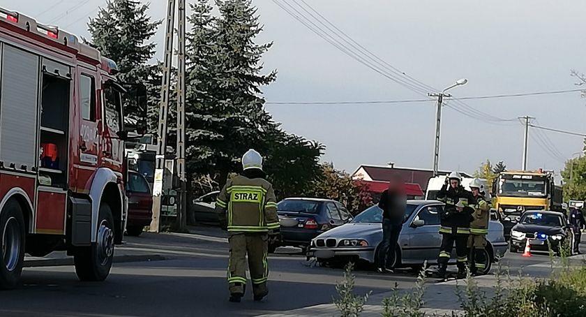 Wypadki drogowe , Kolizja Górznie Sprawca kompletnie pijany - zdjęcie, fotografia
