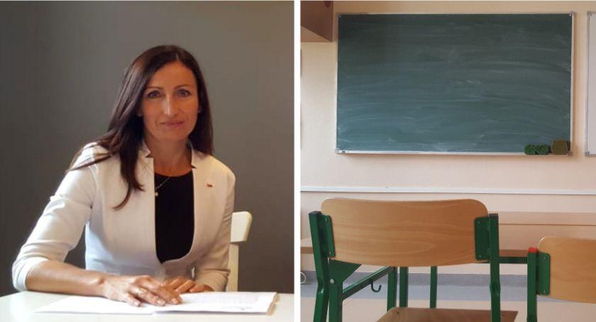 Inne Powiat, Kampania wyborcza szkole wizyta przedstawiciela organu prowadzącego - zdjęcie, fotografia