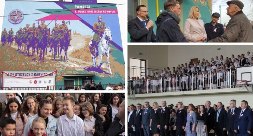 Uroczystości Miejskie, strzelcy Garwolina Mural Niepodległej odsłonięty poświęcony - zdjęcie, fotografia