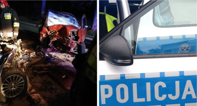 Wypadki drogowe , Wypadek Wyprzedzając ciężarówkę doprowadziła czołowego zderzenia - zdjęcie, fotografia