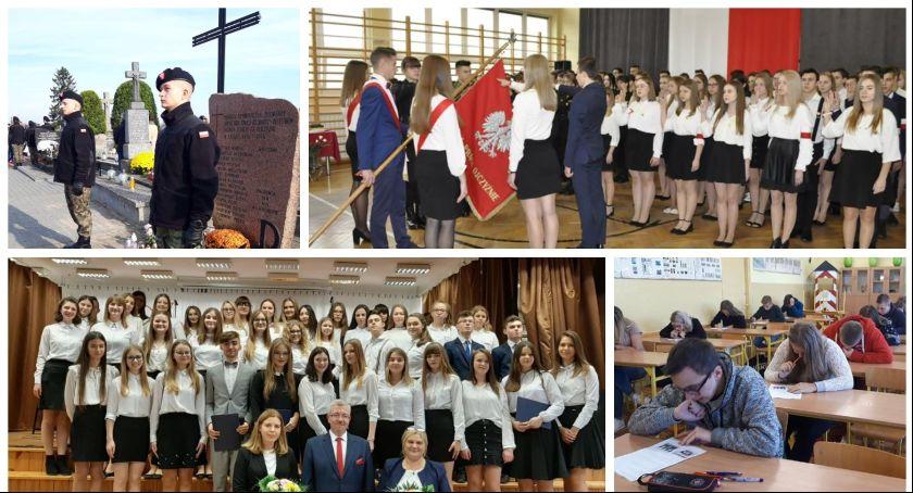Uroczystości Powiat, Patriotyczny listopad żelechowskim ogólniaku - zdjęcie, fotografia