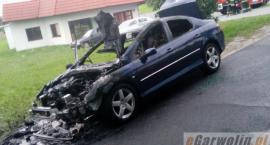 Pożar samochodu w Gocławiu.
