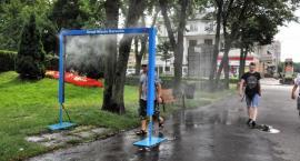 Kurtyna wodna w centrum Garwolina