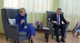 Prezydent Andrzej Duda z żoną na rozpoczęcie roku szkolnego w Wilkowyi