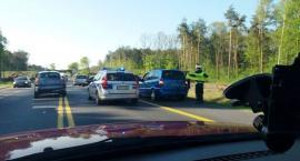Zderzenie 4 samochodów na DK17