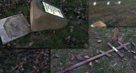 Cmentarz wojenny w Garwolinie zdewastowany! Policja poszukuje sprawców