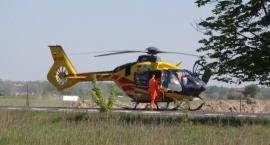 Wypadek na DW 801 - 2 osoby ranne - kobietę zabrał śmigłowiec