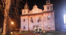 Mariańskie Porzecze: Pożar wieży drewnianego kościoła