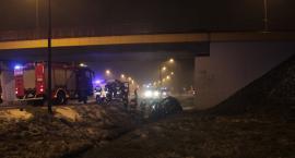 Wypadek na obwodnicy Garwolina, potrącenie w Łaskarzewie i kolizje – robi się ślisko!