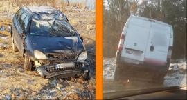 Dachowanie w Leszczynach, bus w rowie na obwodnicy – kierowcy, zwiększcie ostrożność
