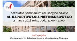 Bezpłatne seminaria edukacyjne on-line z raportowania niefinansowego