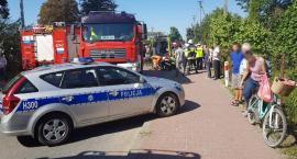 Wypadek w Pilawie: zderzenie motocykla z osobówką