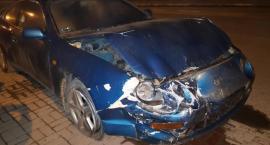 Kolizja w Miętnem – młody kierowca stracił prawo jazdy