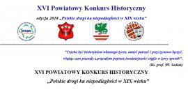 XVI Powiatowy Konkurs Historyczny