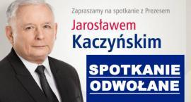 Garwolin - Spotkanie z Jarosławem Kaczyńskim odwołane!