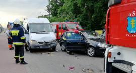 Wypadek w Pilawie – w szpitalu kobieta