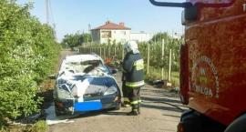 Pożar samochodu w gm. Wilga