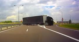 Garwolin - Ciężarówka jechała ekspresówką pod prąd – video