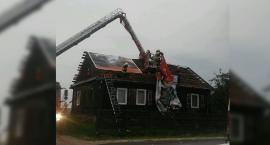 Gwałtowne burze nad powiatem - strażacy interweniowali 37 razy