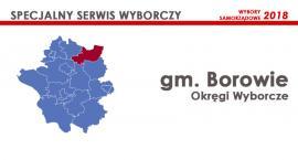 Gm. Borowie: Okręgi wyborcze - wybory samorządowe 2018