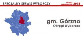 Gm. Górzno: Okręgi wyborcze - wybory samorządowe 2018