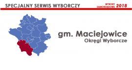 Gm. Maciejowice: Okręgi wyborcze - wybory samorządowe 2018