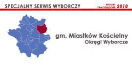 Gm. Miastków Kościelny: Okręgi wyborcze - wybory samorządowe 2018