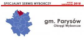 Gm. Parysów: Okręgi wyborcze - wybory samorządowe 2018