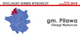 Gm. Pilawa: Okręgi wyborcze - wybory samorządowe 2018