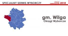Gm. Wilga: Okręgi wyborcze - wybory samorządowe 2018