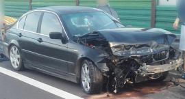 S17 – BMW uderzyło w bariery