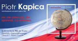 Nazywam się Piotr Kapica, a właściwie Piotr Jarosław Kapica