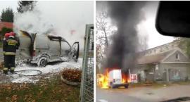 Pożar samochodu w Garwolinie (video)