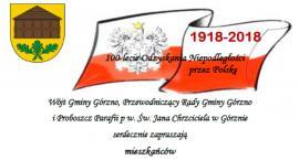 100-lecie odzyskania niepodległości w Górznie