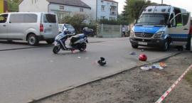 Wypadek w Pilawie – zderzenie samochodu ze skuterem