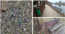 Miejsce spacerów zmienione w wysypisko śmieci – będzie więcej koszy!