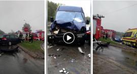 Wypadek na skrzyżowaniu w Wildze (video)