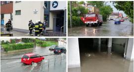 Zalane ulice i piwnice, brak prądu – Burza i intensywne opady nad powiatem