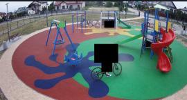 Co zarejestrował monitoring na nowym placu zabaw?