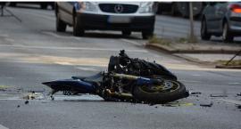 Wypadek – Motocyklista trafił do szpitala