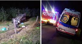 Wypadek – Kobieta zasnęła za kierownicą, samochód dachował