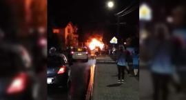 Wypadek w Głoskowie – Samochody stanęły w płomieniach
