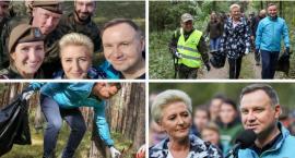 Sprzątali las z prezydentem i pierwszą damą (video)