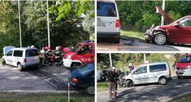 Czołowe zderzenie samochodów w Sobolewie